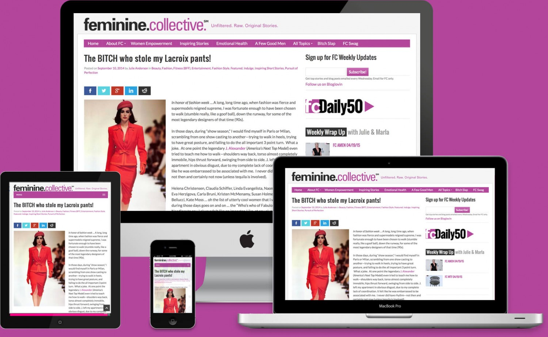 Feminine Collective Website • SPECTODESIGN